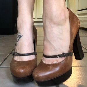Guess Platform Heels with Strap